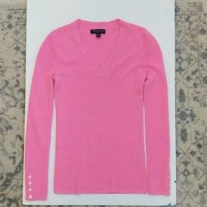 Pink Banana Republic Merino VNeck Sweater xs